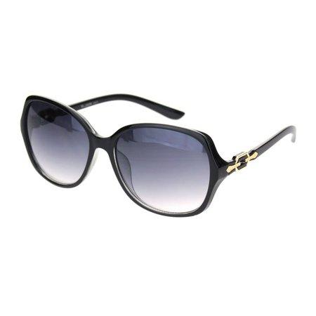 SA106 - Womens 90s Jewel Chain Buckle Rectangle Butterfly Sunglasses Black Gradient Black - Walmart.com - Walmart.com