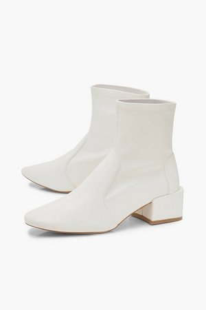 Low Block Heel Sock Boots | Boohoo