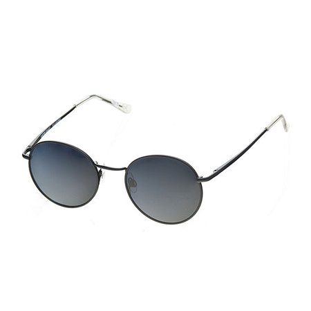 Foster Grant Round Polarized Womens Sunglasses, Color: Black - JCPenney
