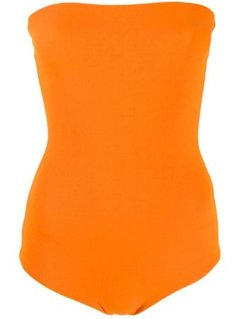 Alexandre Vauthier Strapless Body Top 192BY1053 Orange | Farfetch
