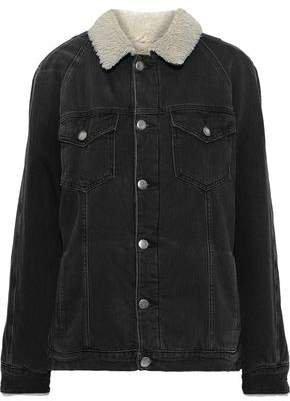 Le Sherpa Faux Shearling-lined Denim Jacket