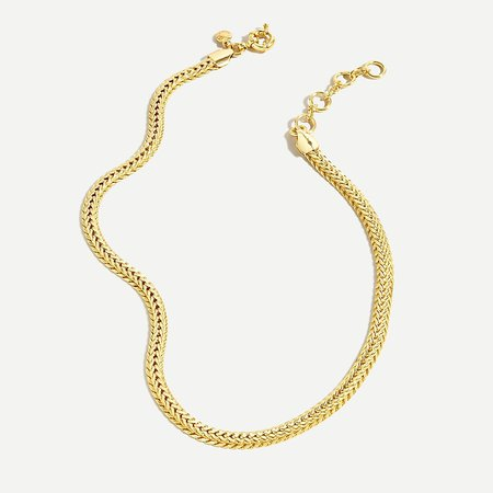 J.Crew: Herringbone Gold Chain Necklace For Women