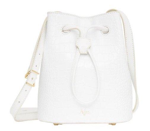 AJE ACACIA BUCKET BAG Classic White Croco Bucket Bag