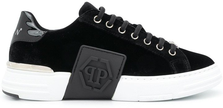 Chunky Sole Velvet Trainers
