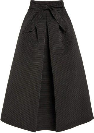 Martin Grant Faille A-Line Skirt