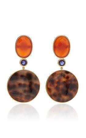 Bahina One of a Kind Porcellini Shell Earrings