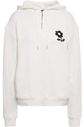Embroidered French Cotton-terry Hoodie