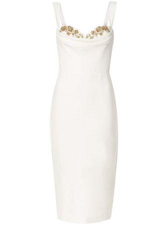Marchesa Notte, embellished-detail knee-length Gown