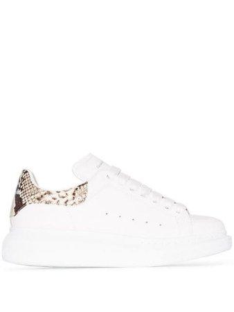 Alexander McQueen Oversized Contrast Heel Counter Sneakers - Farfetch