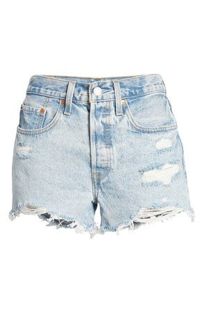 Levi's® 501™ Ripped Cutoff Denim Shorts (Athens Swell) | Nordstrom