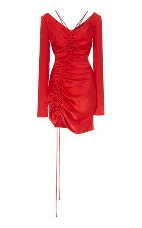 Ruched Cut Mini Dress By David Koma   Moda Operandi