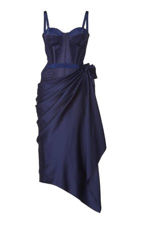 Bustier Silk Dress By Alexander Mcqueen | Moda Operandi