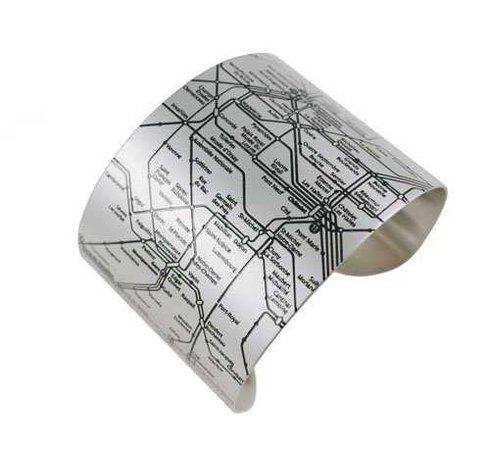 Amazon.com: Designhype Paris Metro Cuff - Black Embossed Stainless Steel: Cuff Bracelets: Jewelry