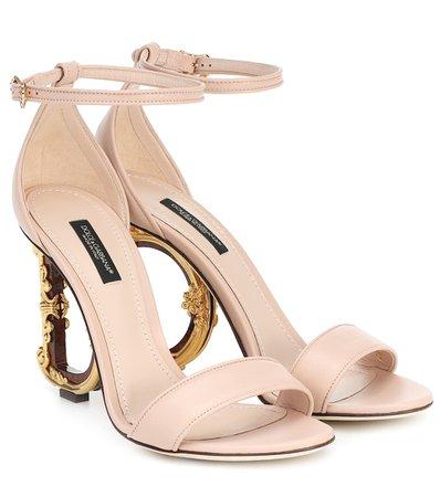 Dolce & Gabbana - Leather sandals | Mytheresa