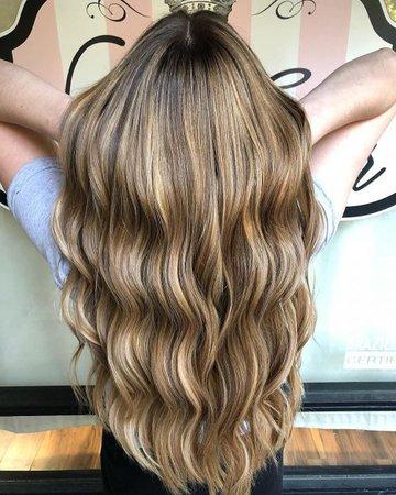 Long dirty blond hair