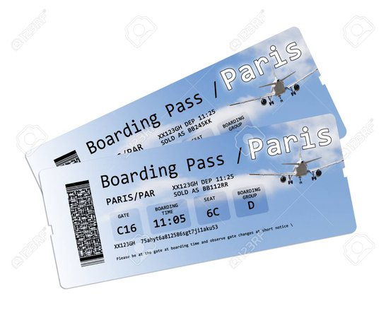 Ticket To Paris - United Airlines and Travelling