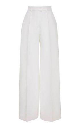 Wide-Leg Wool-Blend Pants by MARTIN GRANT