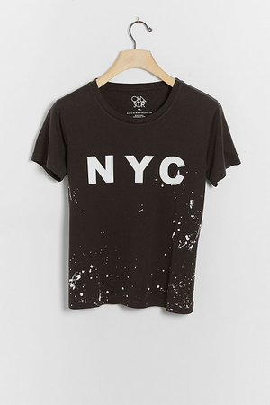 NYC Paint Splattered Graphic Tee | Anthropologie