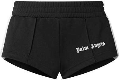 Striped Satin-jersey Shorts - Black