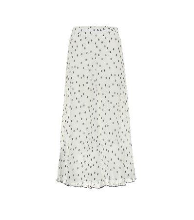 Ganni, Dotted midi skirt