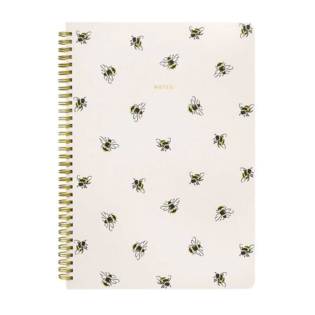Bumble Bee A4 Spiral Notepad | Stationery | CathKidston