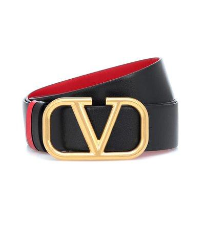 Valentino Garavani Vlogo Reversible Leather Belt | Valentino - Mytheresa