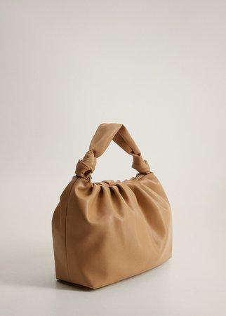 Объемная сумка со сборками - Женская   Mango МАНГО Россия (Российская Федерация)