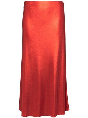 Galvan Mars Silk Midi Skirt