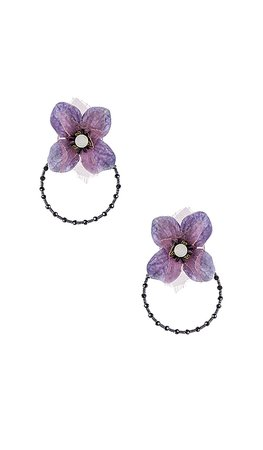 Ranjana Khan Iris Earring in Purple | REVOLVE
