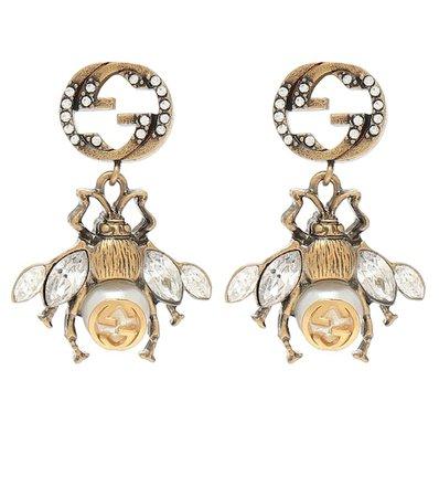 Gucci - Embellished earrings | Mytheresa