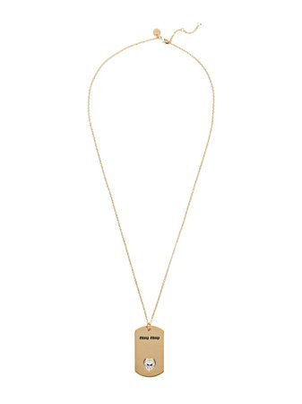 Miu Miu Necklace with logo medallion £270 - Buy Online - Mobile Friendly, Fast Delivery