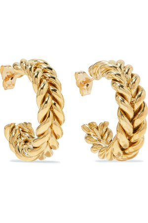 Laura Lombardi | + NET SUSTAIN Grana gold-tone hoop earrings | NET-A-PORTER.COM