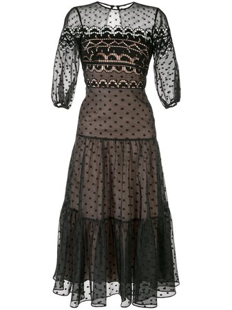 Temperley London, Polka Dot Midi Dress