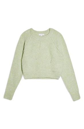 Topshop Swirl Crop Sweater | Nordstrom