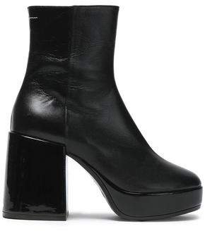 Leather Platform Ankle Boots