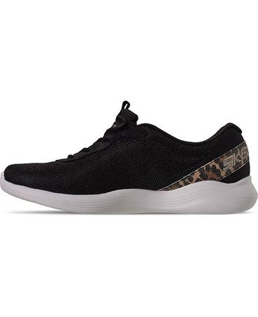 Skechers Women's Envy Had Fun Walking Sneakers from Finish Line & Reviews - Finish Line Athletic Sneakers - Shoes - Macy's black