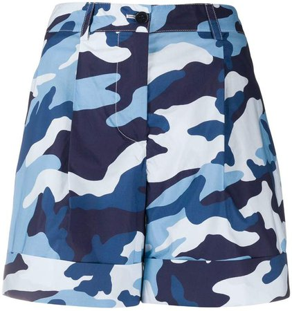 camouflage-print chino shorts