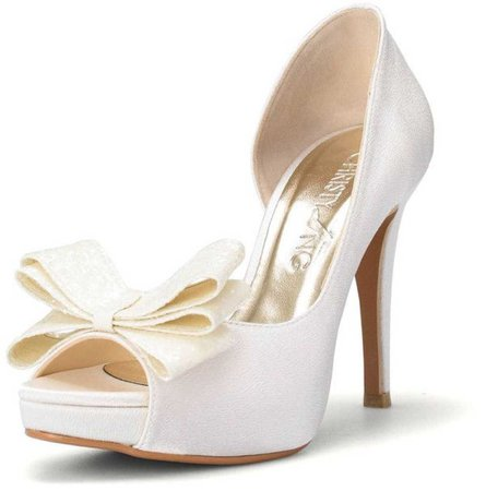 ivory bow pumps