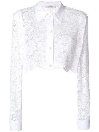 Philosophy Di Lorenzo Serafini Cropped Lace Shirt - Farfetch