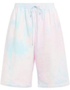 Tie-dyed French Cotton-terry Shorts