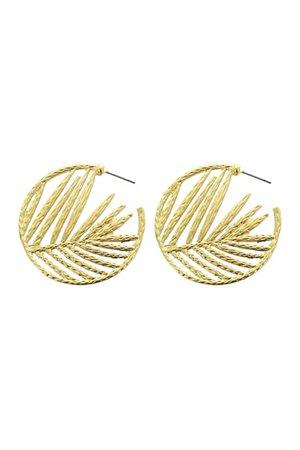 Panacea   Leaf Hoop Earrings   Nordstrom Rack