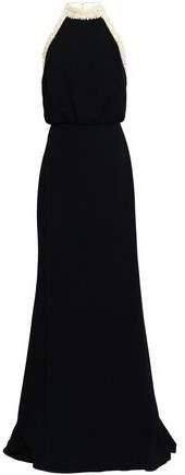 Alison Embellished Crepe Halterneck Gown