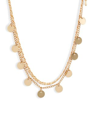 8 Other Reasons Get Your Sleek On Double Strand Disc Necklace | Nordstrom