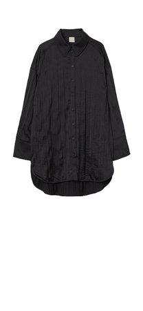 hm black crushed shirt