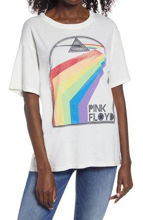 Daydreamer Pink Floyd Retro Rainbow Boyfriend Graphic Tee | Nordstrom