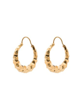 Shop gold All Blues Hungry Snake hoop earrings with Express Delivery - Farfetch