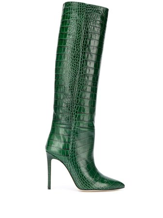 Paris Texas crocodile printed knee high boots £517 - Buy Online - Mobile Friendly, Fast Delivery