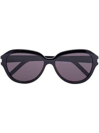 Shop black Saint Laurent Eyewear SL400 round-frame sunglasses with Express Delivery - Farfetch
