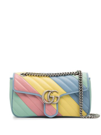 Gucci Small GG Marmont Stripe Shoulder Bag