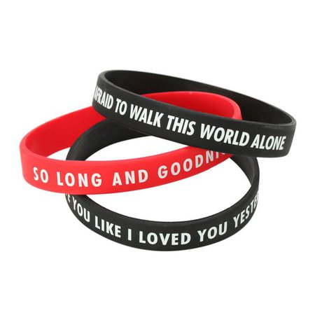 My Chemical Romance So Long and Good Night Wristband 3 Pack